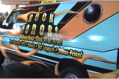 Rock Honors VH 1 promotional van wrap